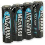 ANSMANN HR6 Nickel-Zink AA Mignon Akku 1500 mAh 4er Pack bulk