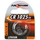 ANSMANN CR1025 Lithium Knopfzellen Batterie 3.0 V 1er Pack