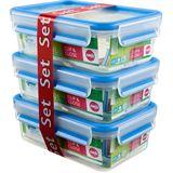emsa Frischhaltedose CLIP & CLOSE, 3er Set, 1,0 Liter