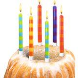 """SUSY CARD Geburtstagskerzen """"Stripes"""", aus Wachs"""