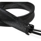 LogiLink Kabelbündler, 1,0 m, Kapazität: 30 mm, schwarz