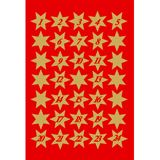 """HERMA Weihnachts-Sticker DECOR """"Sterne"""", gold mit Ziffern"""