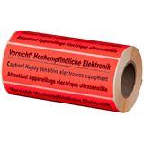 "smartboxpro Hinweis-Etikettenrolle ""Vorsicht Elektronik!"""