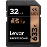 32 GB Lexar Professional SDHC 633x Class 10 Retail