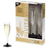 "Papstar Kunststoff-Sektglas ""Invitation"", 0,1 l, glasklar"