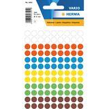 Herma Vielzweck-Etiketten, Durchm.: 8 mm, sortiert, rund