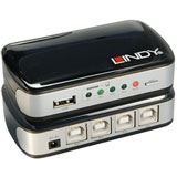 Lindy USB 2.0 Auto Switch PRO, 4 Rechner / 1 Devic