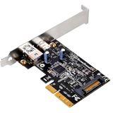 Silverstone SST-ECU03, 2Port USB3.1 Gen2 Karte - PCIe