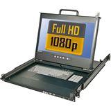 "Lindy 19"" Terminal PRO FHD DVI-I, USB 2, 19""1HE Rail"