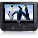 """Xoro HSD-7701 portabler DVD-Player, 2 x 7"""" mit Kopfstützen-Halterung"""