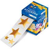 """Herma Weihnachts-Sticker, auf Rolle, """"Sterne"""" Goldfolie"""