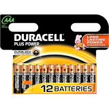 Duracell Plus Power LR03 Alkaline AAA Micro Batterie 1.5 V 12er Pack