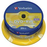 Verbatim DVD+RW 4.7 GB 25er Spindel (43489)