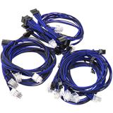 Super Flower Sleeve Cable Kit schwarz/blau
