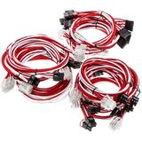 Super Flower Sleeve Cable Kit rot/weiß