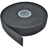 Lindy Klettband Doppelseitig 5m schwarz mit Klettvorder