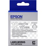 Epson Tape LK4TWN CLEAR WHITE/