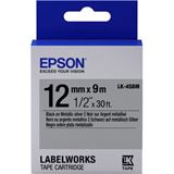 Epson Tape LK4SBM METALLIC BLK/