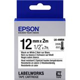 Epson Tape LK4WBH HEAT RESIST BLK/