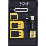 InLine SIM-BOX, Simkartenadapter und Zubehörbox mit OTG Kartenleser