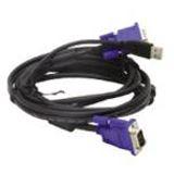 (€8,31*/1m) 1.80m D-Link KVM Anschlusskabel VGA 15pol Stecker + USB A Stecker auf VGA 15pol Stecker + USB B Stecker Schwarz