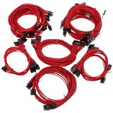 Super Flower Sleeve Cable Kit Pro rot