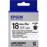 Epson Farbband transparent schwarz/transparent 18mm