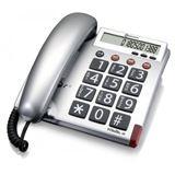 amplicomms BIGTel 48 Großtastentelefon silber