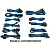 Corsair Premium Pro Sleeved Kabel-Set - blau/schwarz