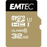 32 GB EMTEC Gold+ microSDHC Class 10 U1 Retail inkl. Adapter auf SD