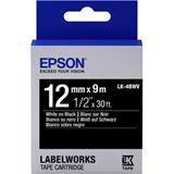 Epson Band leuchtend weiß/schw. 12mm