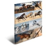"HERMA Eckspannermappe ""Pferde"", aus Karton, DIN A3"