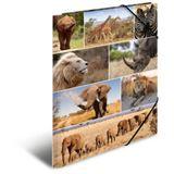 """HERMA Eckspannermappe """"Afrika Tiere"""", aus Karton, DIN A3"""