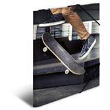 "HERMA Eckspannermappe ""Skateboard"", aus Karton, DIN A3"