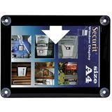Securit Fenster-Plakatrahmen, DIN A4, schwarz