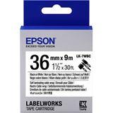Epson Band 36mm schwarz/weiß