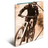 """HERMA Eckspannermappe """"Mountainbike"""", aus Karton, DIN A4"""