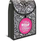 HERMA Schulbox FlexiBag, aus PP, schwarz / pink