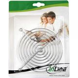 InLine Lüftergitter für 40mm Lüfter silber (33374)