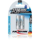 ANSMANN HR6 Nickel-Metall-Hydrid AA Mignon Akku 2500 mAh 2er Pack