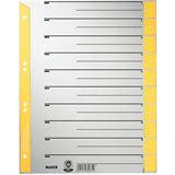 Leitz Trennblätter, A4 Überbreite, Kraftkarton 230g/qm, gelb