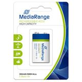 MediaRange 6HR61 Nickel-Metall-Hydrid E Block Akku 300 mAh 1er Pack