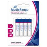 MediaRange Super Heavy Duty R03 Zink-Kohle AAA Micro Batterie 1.5 V