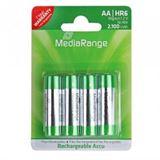 MediaRange HR6 Nickel-Metall-Hydrid AA Mignon Akku 2100 mAh 4er Pack