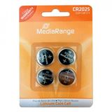 MediaRange CR2025 Lithium Knopfzellen Batterie 3.0 V 4er Pack