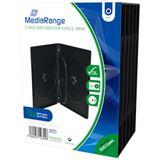 MediaRange DVD Leerbox 4er DVD Box 5 Stück
