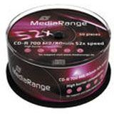MediaRange CD-R 700MB 50pcs Spindel 52x