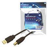 (€0,99*/1m) 5.00m MediaRange USB2.0 Anschlusskabel High-Speed