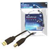 3.00m MediaRange USB2.0 Anschlusskabel High-Speed USB A Stecker auf