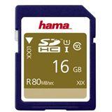 16 GB Hama Memory Fast 80MB/s SDHC Class 10 UHS-I Retail